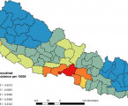 Spatiotemporal analysis of dengue fever in Nepal from 2010 to 2014