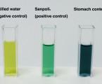 Test barvením pro snadnou identifikaci požitého povrchového aktivačního činidla