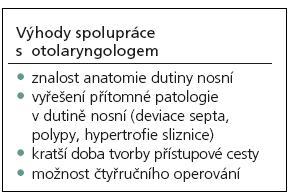 Výhody mezioborové spolupráce s otorinolaryngologem.
