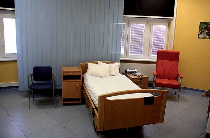 Pohled do jedné ze spánkových laboratoří Kardiovaskulárního spánkového výzkumného centra ICRC.