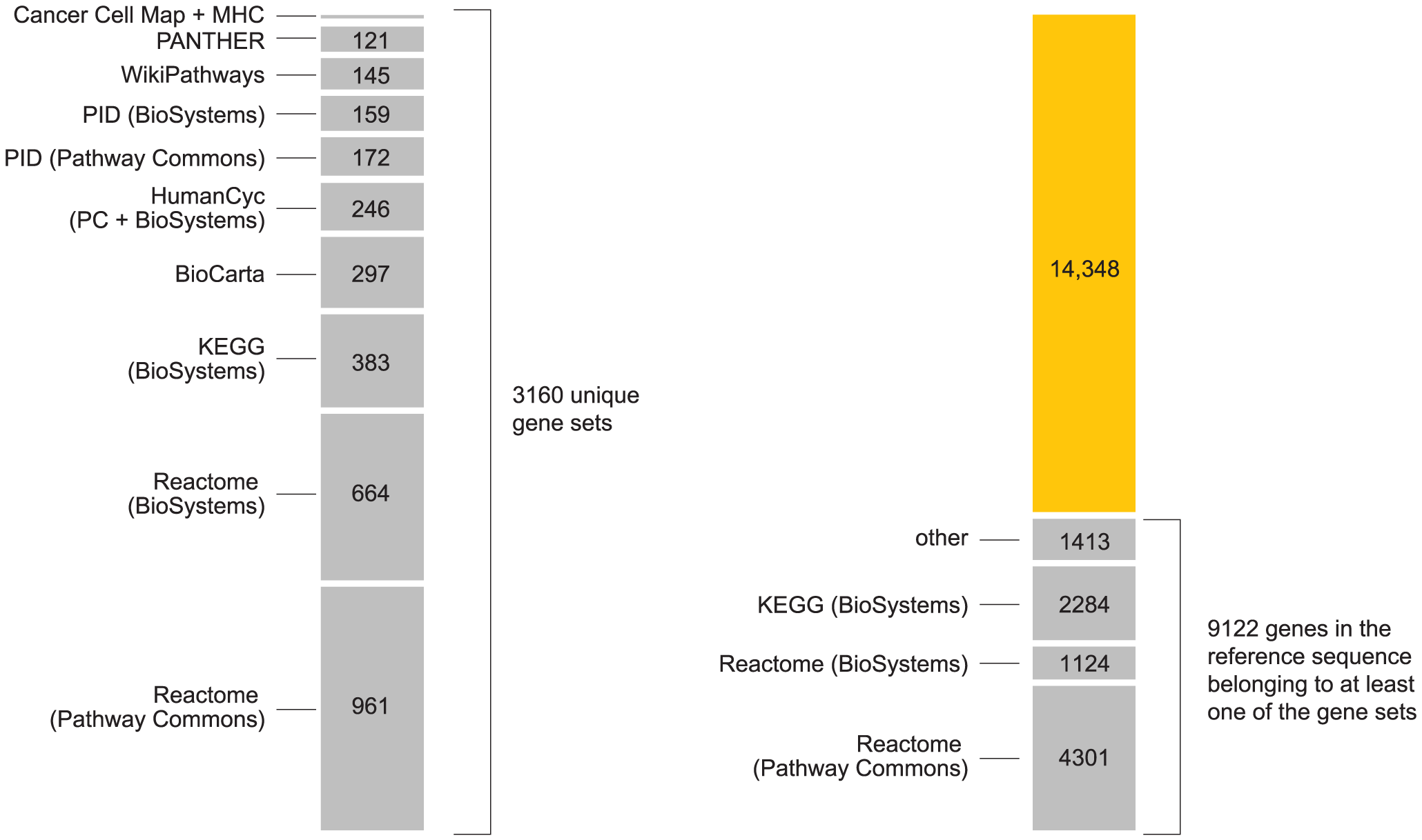 Summary of pathways used in the analysis.
