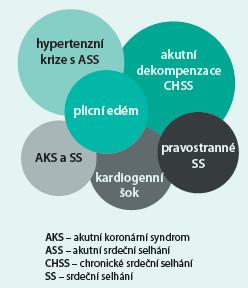 Schéma. Klinické formy syndromu akutního srdečního selhání (upraveno dle Fillipatos G [5])