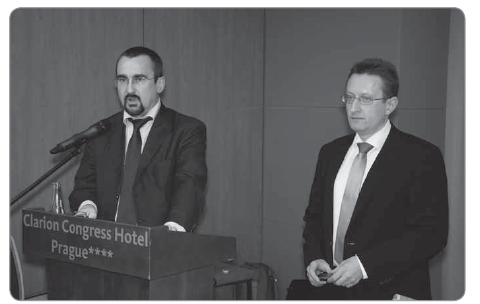 Fig. 1. Dr. Pavel Poc, Member of the European Parliament, and Assoc. Prof. Ladislav Dušek, Ph.D., Director of the Institute of Biostatistics and Analyses at the Masaryk University.