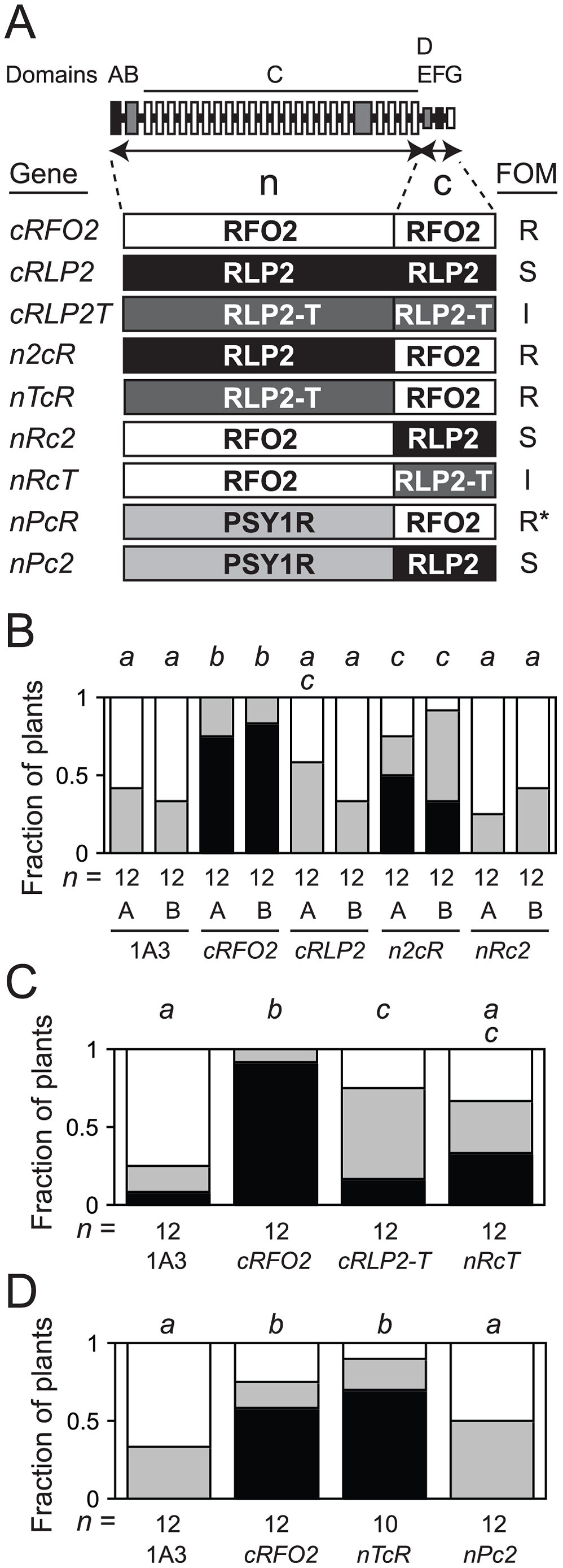 Constitutively-expressed and chimeric RLP genes.