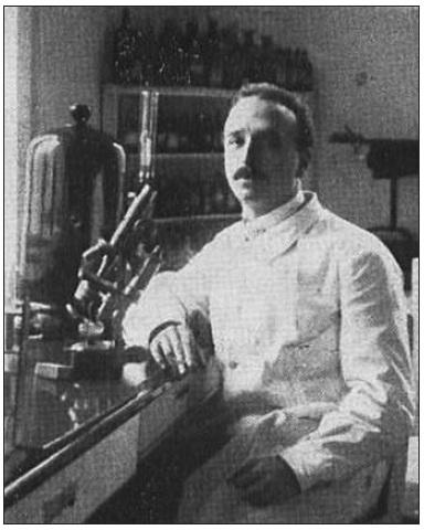 F. Langer jako medik.
