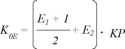 Vzorec 2. Výpočet indexu odhadu celoživotní expozice prachu