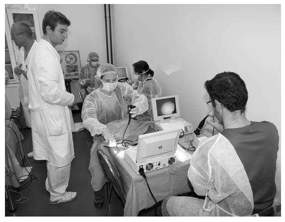 Účastníci měli příležitost studia anatomie i vyzkoušení si některých operací v disekčním kurzu, který je důležitou součástí celé akce