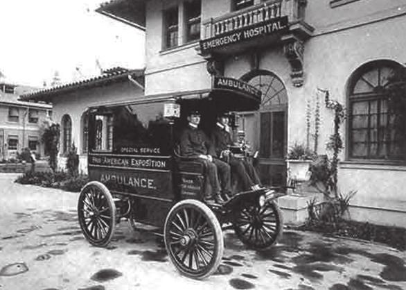 Sanitní vůz s elektrickým pohonem, 1901 (National EMS Museum)
