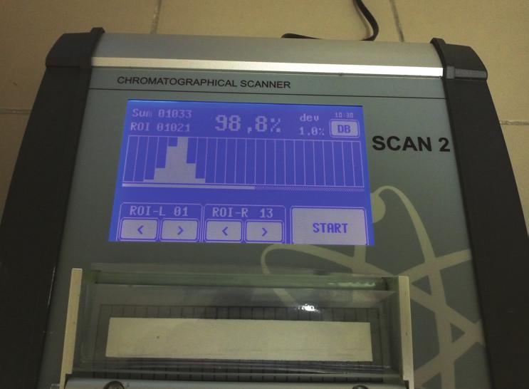 Chromatografický skener SCAN 2 pro rychlé a přesné vyhodnocení chromatografie
