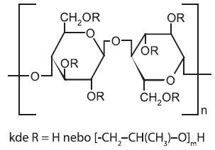 Strukturní vzorec hydroxypropylcelulosy