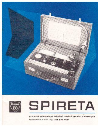Spireta, návod k použití přístroje, Chirana Stará Turá, Československo