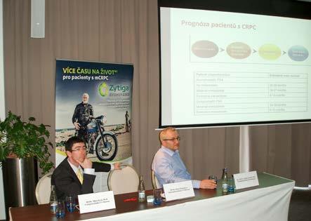 Obr. 6. Doc. MUDr. Vladimír Študent, Ph.D., a MUDr. Milan Král, Ph.D., při poslechu přednášky MUDr. Hany Študentové, Ph.D. (Olomouc, 5. 4. 2016) Fig. 6. Associate professor Vladimír Študent, M.D., Ph.D. and Milan Král, M.D., Ph.D. listening to a lecture by Hana Študentová, M.D., Ph.D. (Olomouc, 5 April 2016)