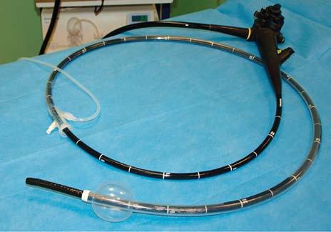 Jednobalonový enteroskop Olympus SIF Q180. Fig. 1. Single-balloon enteroscope Olympus SIF Q180.