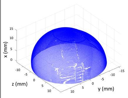 Fig. 2: Measured original data of unworn UHMWPE cup no. 2.