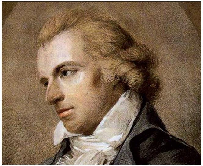F. Schiller – mladý muž s bílou parukou