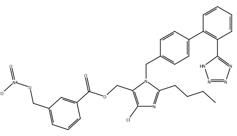 (XVIII) 3-[(nitrooxy)metyl]benzoát losartan
