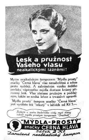 Reklama na nealkalický šampon