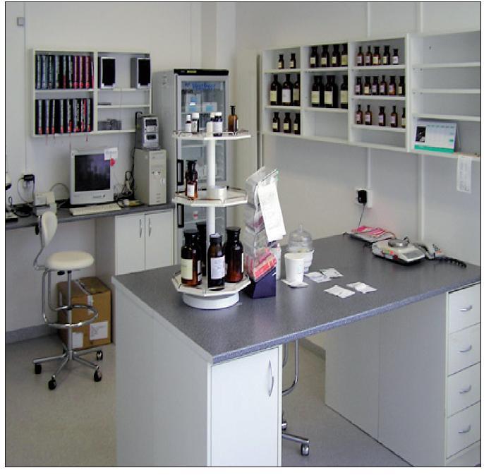 Laboratoř pro výrobu individuálně stanovených přípravků
