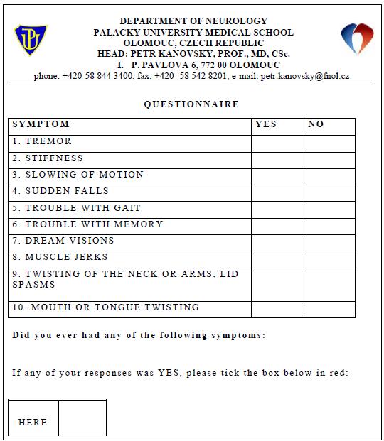 Appendix 1. Questionnaire (English version).
