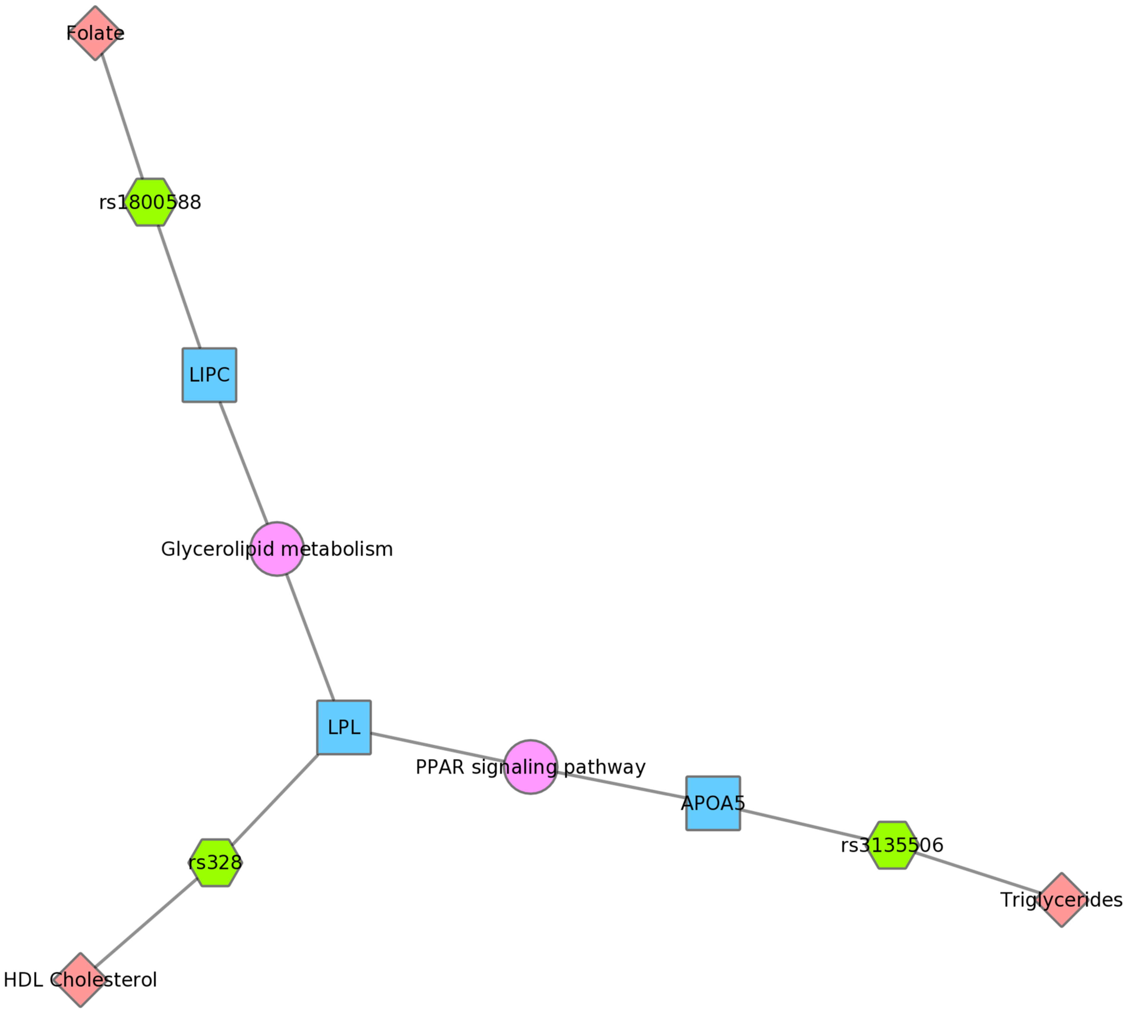 Using PheWAS results, Biofilter, and Cytoscape to explore gene-gene connections with KEGG connections.