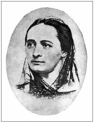 Podobizna Boženy Němcové kolem roku 1850