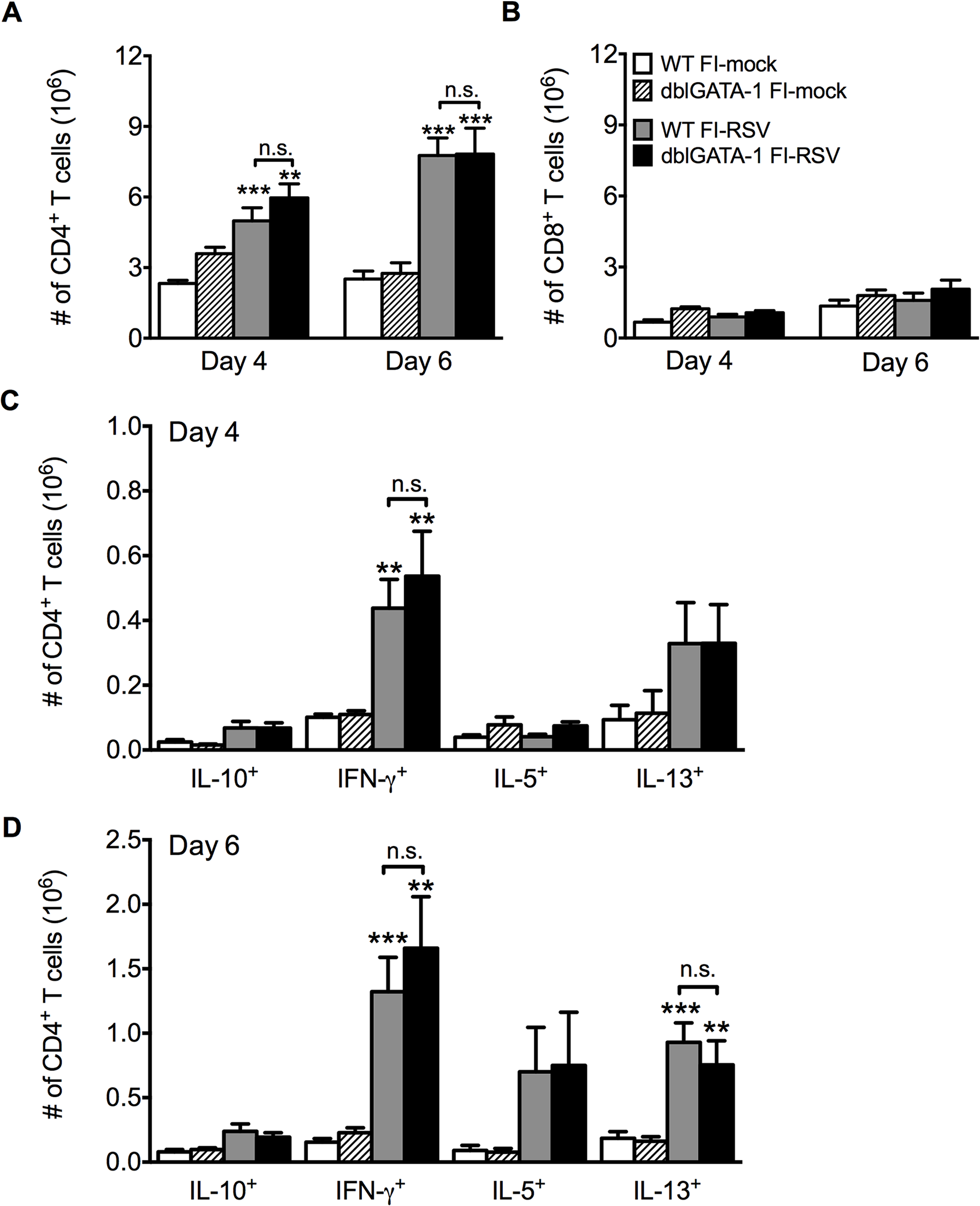 Absence of eosinophils does not affect T cell responses.