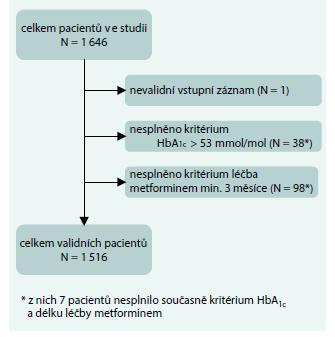 Schéma. Struktura pacientů ve studii