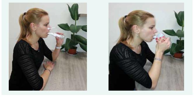 Treshold (vlevo) a flutter (vpravo): způsob použití.