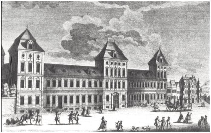 """Novoměstský ústav šlechtičen """"Damenstift"""" na Dobytčím trhu"""