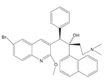 Struktura antituberkulotika TMC207