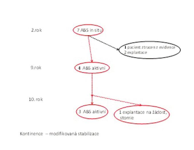 Schéma 2: Přehled o ABS v průběhu desetiletí Scheme 2: The implanted ABS through ten years