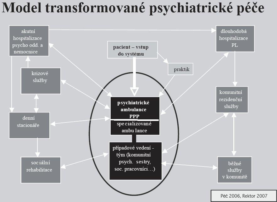Postavení primární psychiatrické péče v systému.