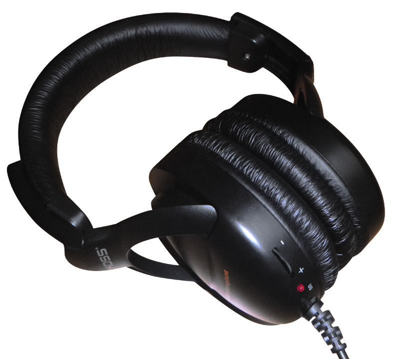 Sluchátka pro kvalitní audio výstup.