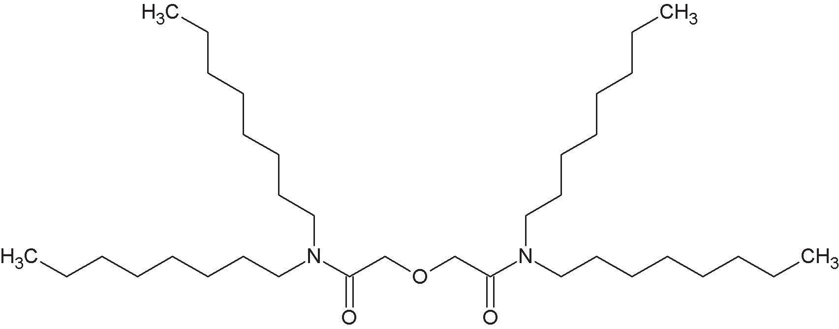 N,N,N´,N´-tetraoktyldigylokolamid (TODGA).