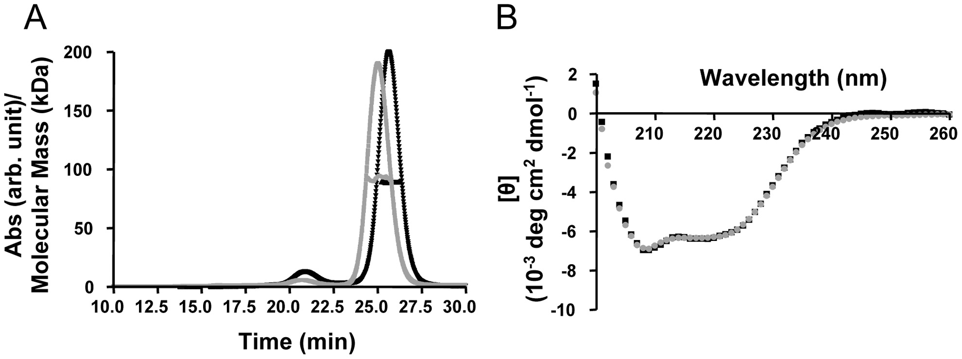 Biophysical characterization of recombinant TRIM5α CC-SPRY.