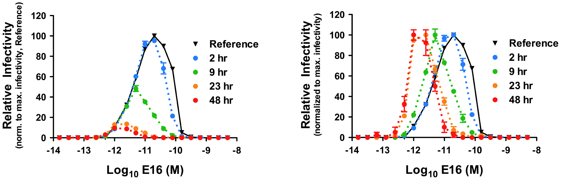 Kinetic changes in antibody dependent enhancement (ADE) of WNV infection by the MAb E16.