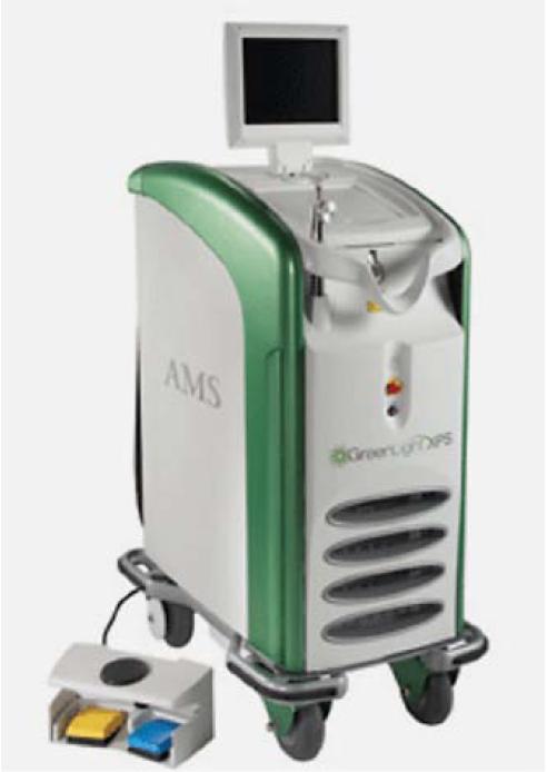 Příklad 180W zdroje Greenlight laseru k PVP.