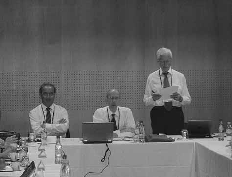 Představitelé Výkonného výboru EUFEPS při zasedání – zleva: prof. Ch. Noe, prof. Daan J. A. Crommelin, H. Lindén
