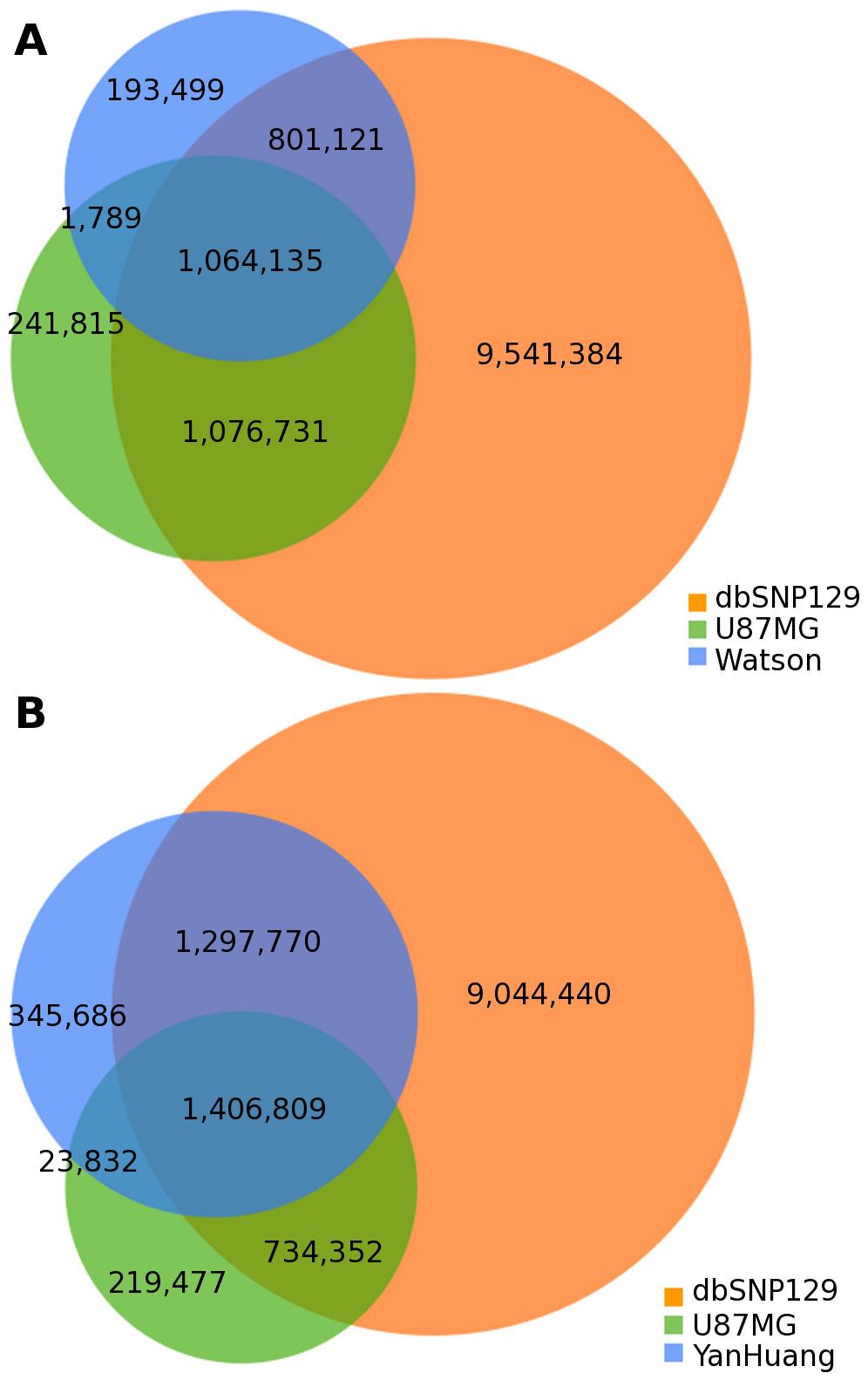 Individual genome comparison.