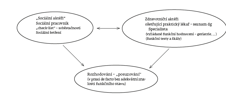 Role aktérů v posuzování soběstačnosti.