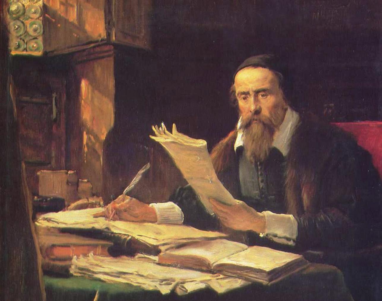 Václav Brožík – Jan Amos Komenský ve své pracovně