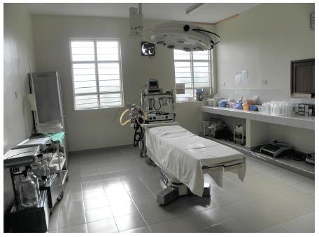Aseptický operační sál je chloubou nemocnice