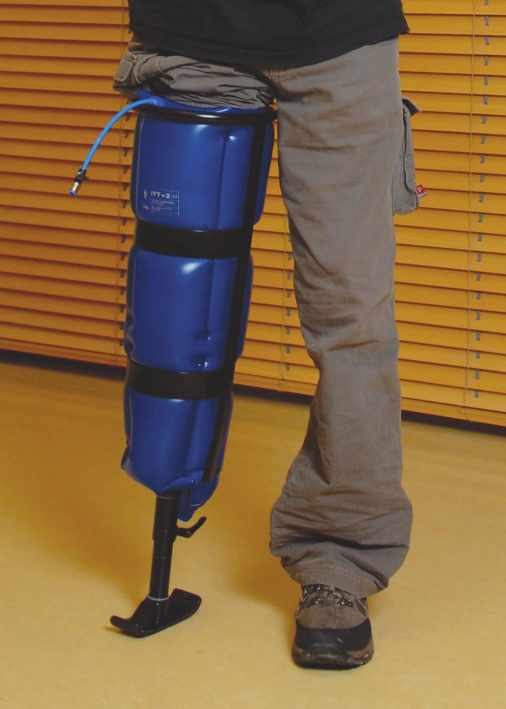 Pneumatic Post-Amputation Mobility (PPAM) – pneumatická vertikalizační dlaha.