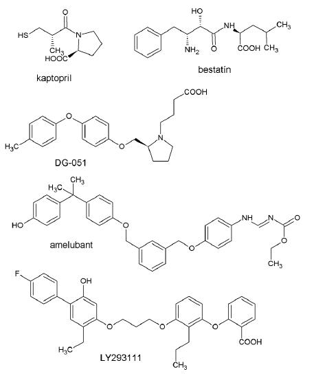 Zástupcovia inhibítorov LTA<sub>4</sub>-hydrolázy a antagonistov BLT receptorov