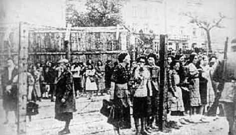 Snímek z lvovského židovského ghetta.