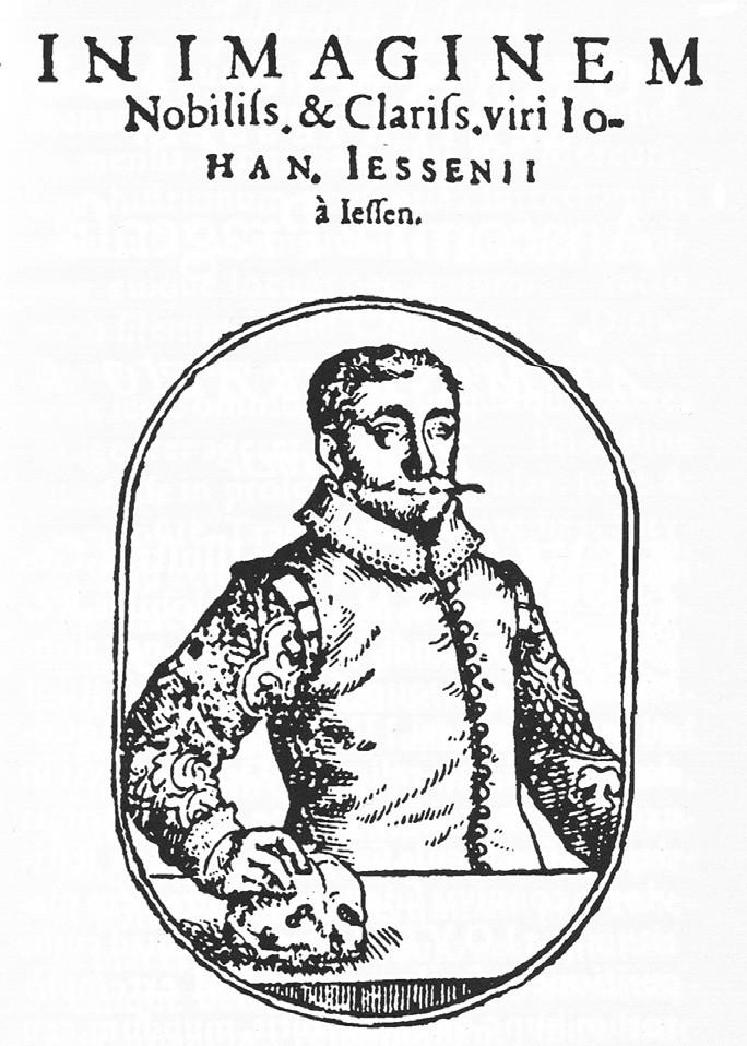 Jesseniův portrét, uvádějící popisnou část knihy