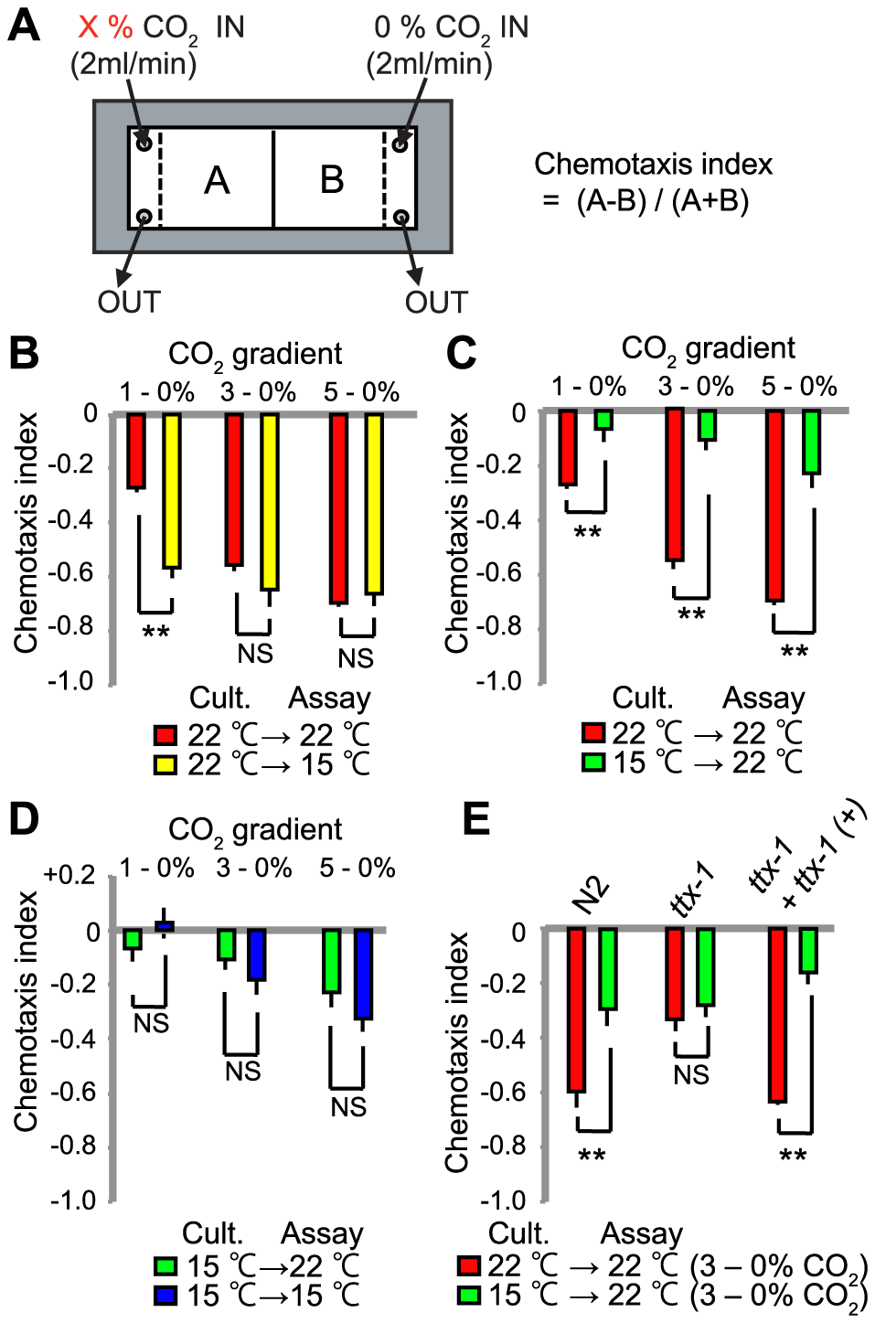CO<sub>2</sub> avoidance is modulated by acclimation temperature.