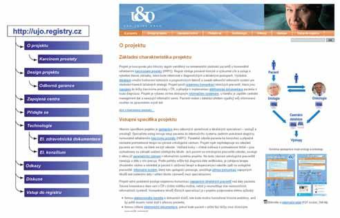 WWW stránka projektu UJO Fig. 6 WWW side of project UJO