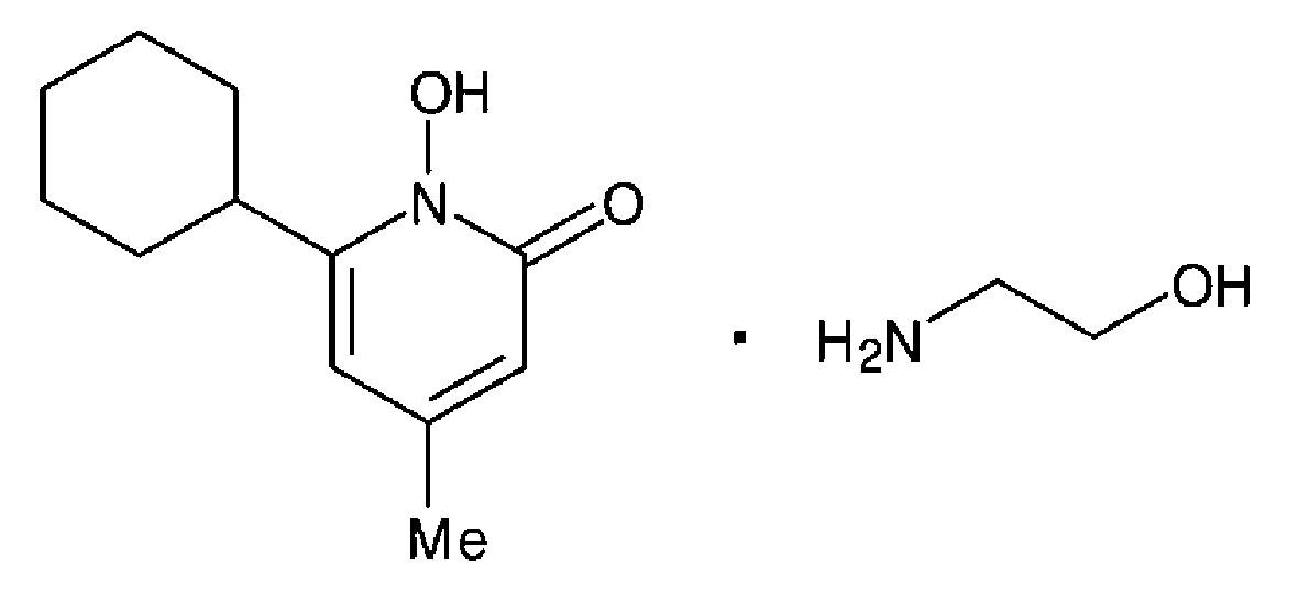 Chemická struktura ciclopiroxolaminu<sup>7</sup>)