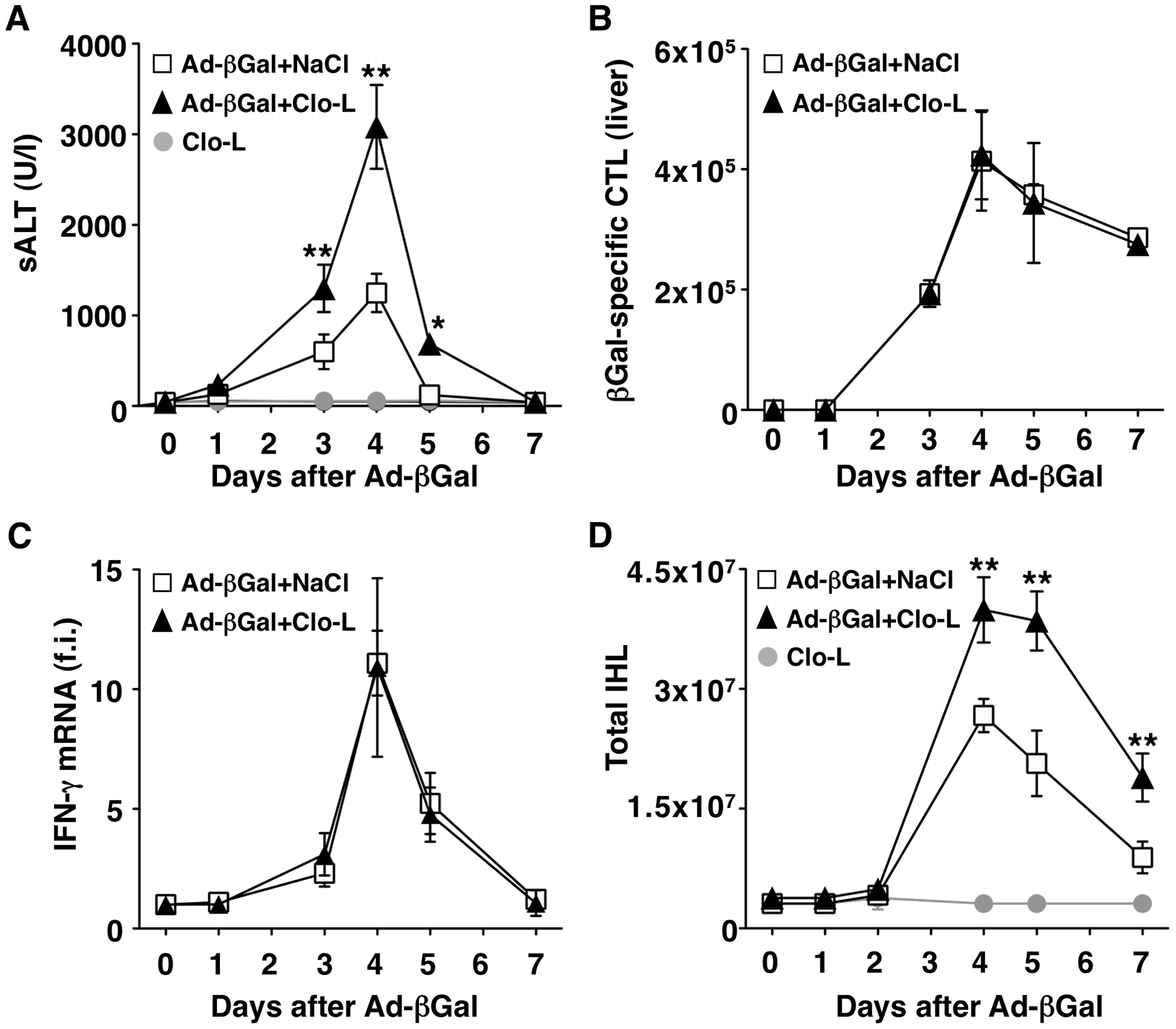 KCs limit liver immunopathology in adenovirus-infected mice, without affecting the number or function of virus-specific CTL.